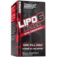 Redukcja tkanki tłuszczowej, Nutrex Lipo-6 Black Ultra Concentrate - 60 kaps.