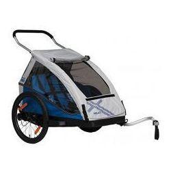 Przyczepka rowerowa dla dzieci XLC BS C05 DUO2, 2w1+ wózek, składana niebieska