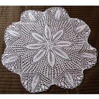 Serwetki, Serwetka koronkowa (robiona na drutach) śred. 77 cm