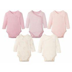 LUPILU® Body niemowlęce z długim rękawem, 5 sztu