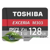Karty pamięci, TOSHIBA microSD 128GB M303 UHS-I U3+ ADAPTER