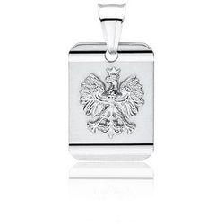 Srebrny wisiorek wisior patriotyczny orzeł w koronie godło orzełek srebro 925 WD183