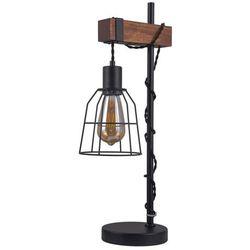Lampa stołowa Reda 1 x 60 W E27 czarny / drewno