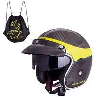 Kaski motocyklowe, Kask motocyklowy W-TEC V587, Błyszczący Carbon, XXL (63-64)