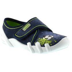 Kapcie dziecięce Befado 273X208 Skate - Zielony ||Granatowy