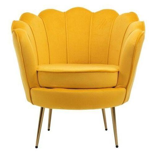 Fotele, SZARY FOTEL MUSZELKA ▪️ LOTUS (YC-7088) ▪️ WELUR 39, NOGI ZŁOTY CHROM