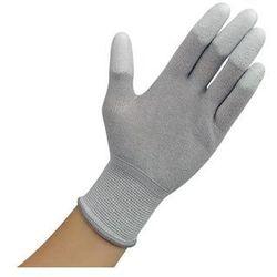 Rękawiczki ESD z warstwą antypoślizgową na palcach, szare, rozmiar M
