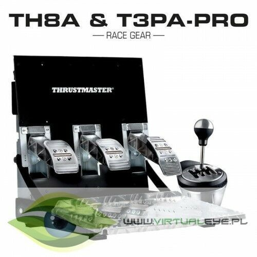 Akcesoria do PlayStation 4, Skrzynia biegów i pedały THRUSTMASTER TH8A & T3PA PRO do PC/PS4/Xbox One