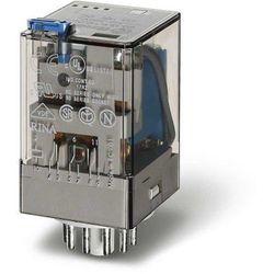 Przekaźnik miniaturowy 3P 10A 24V DC przycisk testujący mechaniczny wskaźnik zadziałania 60.13.9.024.0040 FINDER