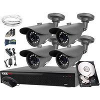Zestawy monitoringowe, 4x Kamera LV-N4400IR25TF, LV-XVR44SE 1TB Zestaw do monitoringu 4MPx