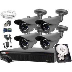 4x Kamera LV-N4400IR25TF, LV-XVR44SE 1TB Zestaw do monitoringu 4MPx