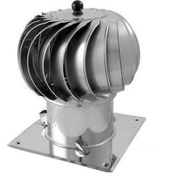Turbowent Podstawa Kwadratowa Otwierana - Standard - 150 mm - 350 mm Materiał wykonania: Blacha chromoniklowa 1.4301, Średnica [mm]: 150