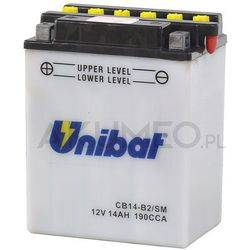 Akumulator UNIBAT CB14-B2/SM 12V 14Ah 190A lewy+ oP