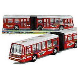Autobus Przegubowy Friction Duży 41,5 cm Czerwony