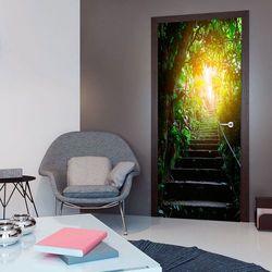 Fototapeta na drzwi - Tapeta na drzwi - Schody w miejskiej Dżungli bogata chata
