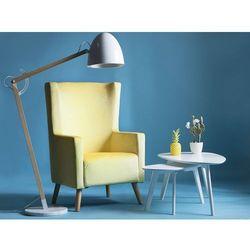 Fotel tapicerowany żółty ONEIDA