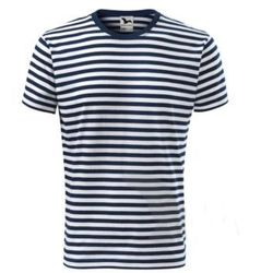 Koszulka, T-shirt, żeglarska, marynarska, w paski Sailor KIDS dla dzieci 8lat 134cm