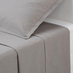Bawełniane prześcieradło - kolor szary, 180 x 290 cm