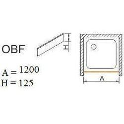 SANPLAST obudowa do brodzików do zabudowy wnękowej OBF 120x12,5 625-401-0350-01-000