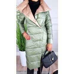 Dwustronny płaszcz - Oliwka