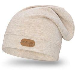 Wiosenna czapka dziewczęca PaMaMi - Beżowy - Beżowy