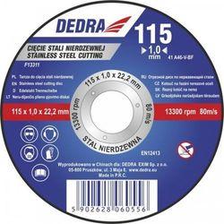 Tarcza do cięcia DEDRA F13312 115 x 1.5 x 22.2 do stali
