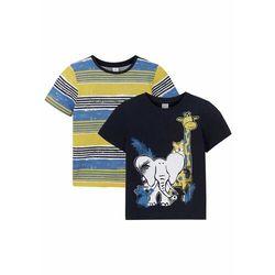 T-shirt chłopięcy z nadrukiem (2 części), bawełna organiczna bonprix ciemnoniebieski