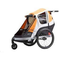 Przyczepka rowerowa Giant PeaPod 2 Duo pomarańczowa