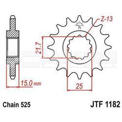 Zębatka przednia JT F1182-14, 14Z, rozmiar 525 2200927 Triumph Speed Four 600