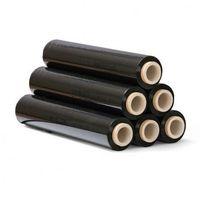 Przybory do pakowania, Folia stretch czarna, 23 mic, 450 mm x 300 m, 6 szt.
