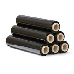 Folia stretch czarna, 23 mic, 450 mm x 300 m, 6 szt.