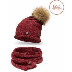 Zimowy komplet PaMaMi z moherem, czapka i szalik - Czerwony - Czerwony