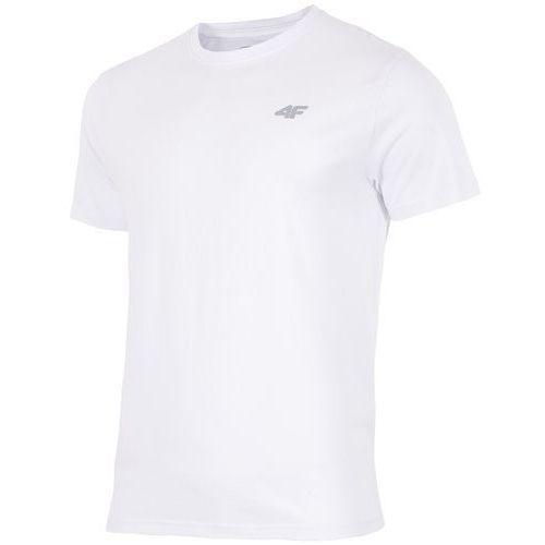T-shirty męskie, KOSZUL MĘS 4F H4L18 TSM002 BIAŁA XXL