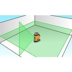 Laser krzyżowy Nivel System CL1D-G + Tyczka rozporowa LP-33