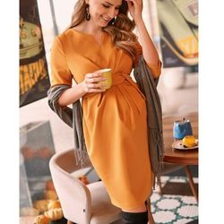 ubrania ciążowe Elegancka sukienka ciążowa z tkaniny Davea Piękny Brzuszek