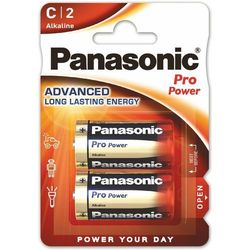 2 x Panasonic Alkaline PRO Power LR14/C (blister)