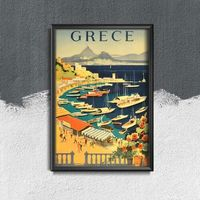 Plakaty, Plakat w stylu retro Plakat w stylu retro Grecja