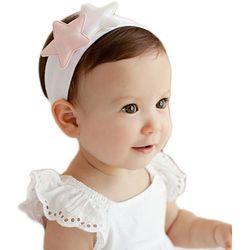 1 kIDS opaska na głowę biała z gwiazdkami