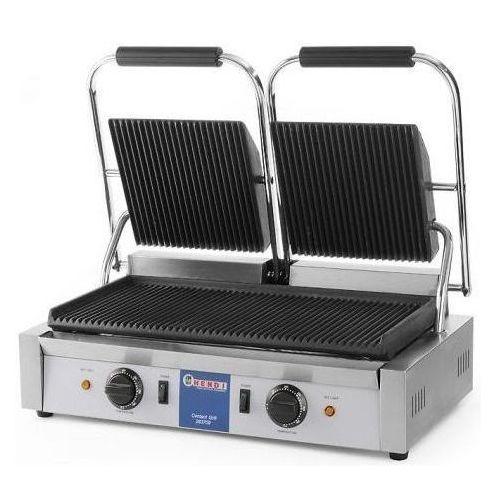 Grille gastronomiczne, Hendi Grill kontaktowy żeliwny podwójny ryflowany | 475x230mm | 3600W - kod Product ID