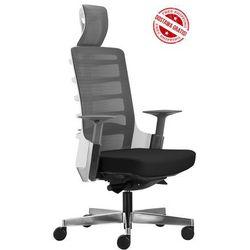 Fotel biurowy Unique SPINELLY 999W - Biały, wysuw siedziska + 21 kolorów siedziska