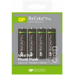 4 x akumulatorki R6/AA GP ReCyko+ Pro Photo Flash 2600mAh