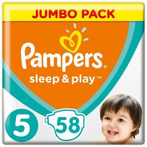 Pieluchy jednorazowe, PAMPERS Sleep&Play 5 JUNIOR 58 szt. (11-18 kg) JUMBO PACK – pieluszki jednorazowe