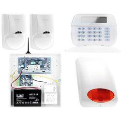 ZA12535 Zestaw alarmowy DSC 2x Czujnik ruchu Manipulator LCD Powiadomienie GSM