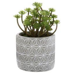 Dekoracyjna sztuczna roślina w cementowej doniczce, sztuczne kwiaty w doniczce, rośliny do łazienki, dekoracje do łazienki, ozdoby