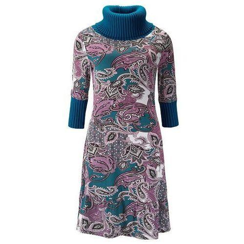 Suknie i sukienki, Sukienka bonprix niebieskozielony morski kolorowy