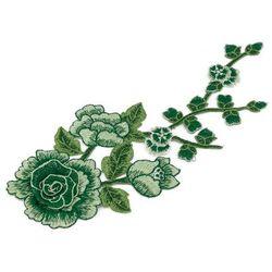 Naszywka zielona I gałązka i kwiat 30cm x max 13cm - zielona I