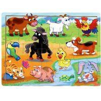 Pozostałe zabawki dla najmłodszych, Brimarex Puzzle drewniane TOP BRIGHT - Na wsi, 20 elementów