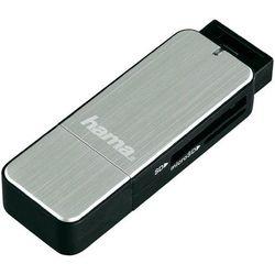Czytnik kart pamięci, zewnętrzny, USB 3.0 Hama 123900, srebrny