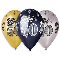 Balony lateksowe z nadrukiem 50 - mix - 30 cm - 6 szt.
