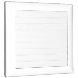 Kratka wentylacyjna zamykana ⌀ 125 biała 170x170mm AirRoxy 1362